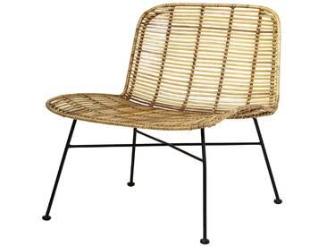 Bloomingville Dom Chair, Nature avec noir