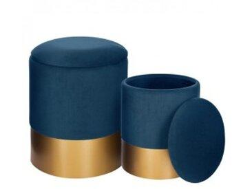 Lot de 2 poufs de rangement Spirit Bleu