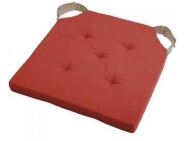 Galette de chaise Duo Rouge terracotta
