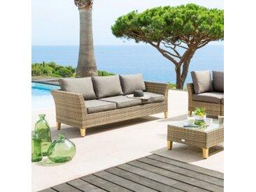 Canapé de jardin Cyclades 3 places- Naturel