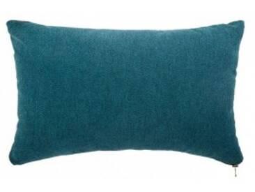 Coussin rectangulaire Zipper Bleu