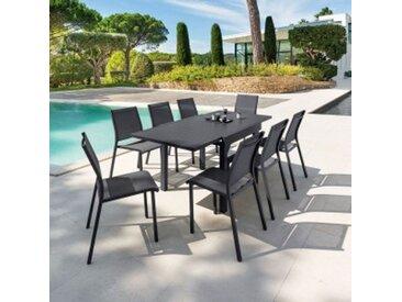Table de jardin extensible Aluminium Piazza (180 x 90 cm) - Graphite