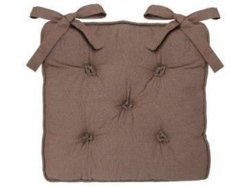 Coussin de chaise 5 Boutons Taupe