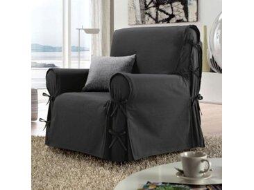 Housse de fauteuil Stella gris anthracite