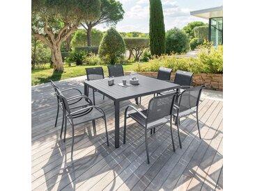 Table de jardin Aluminium Piazza carrée - Gris ardoise