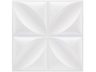 Lot de 6 plaques stickers relief Fleur Blanc