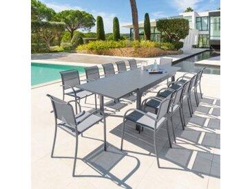Table de jardin extensible Piazza Aluminium (320 x 100 cm) - Gris ardoise