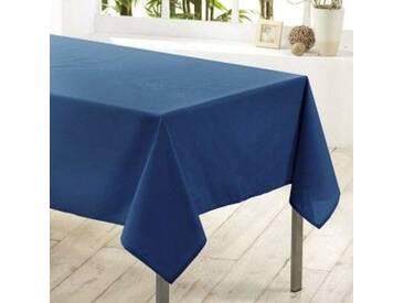 Nappe rectangulaire anti-tache (L250 cm) Essentiel Bleu indigo