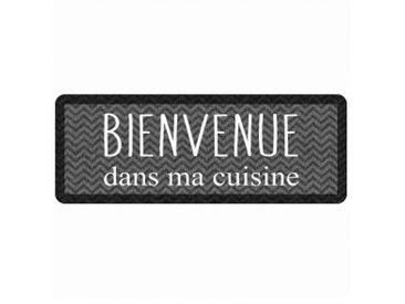 Tapis de cuisine (120 cm) Kitchen Black Gris