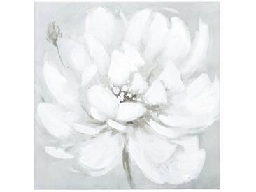 Toile peinture Fleur Blanc