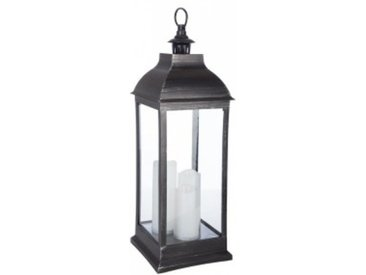 Lanterne led Antique Noir