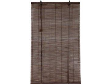 Store enrouleur à baguettes (60 x 180 cm) Bambou Chocolat