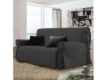 Housse de canapé 3 places Stella Gris anthracite