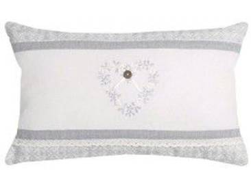 Coussin rectangulaire Manoir Blanc
