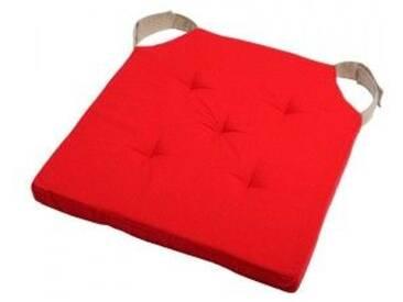 Galette de chaise Duo Rouge