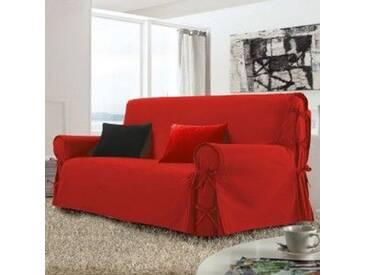 Housse de canapé 3 places Stella Rouge