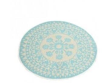 Tapis rond (D150 cm) Anoki Bleu Clair