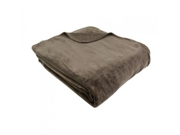 Plaid polaire (230 cm) Tendresse Taupe
