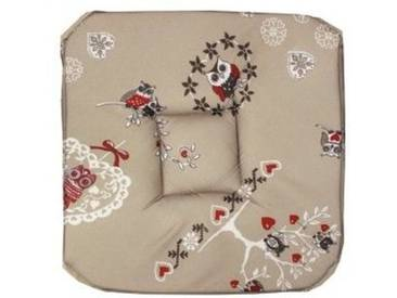 Galette de chaise carrée Chouetti Lin