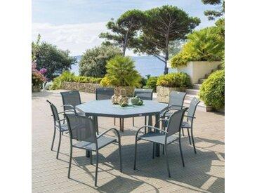 Table de jardin Aluminium Piazza octogonale - Gris ardoise