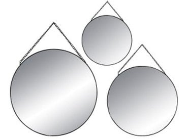 Lot de 3 miroirs Ovalia Noir