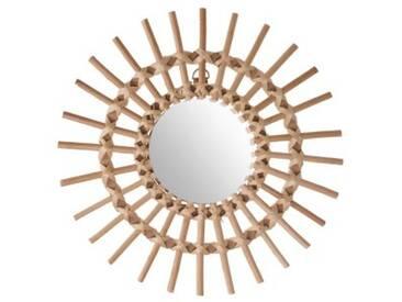 Miroir Soleil Rotin Naturel