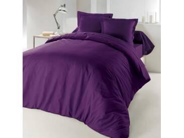 Housse de couette Lina coton  (260 cm) Violet myrtille