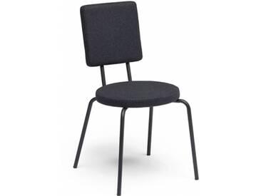 OPTION - chaise dossier carré et assise ronde - Couleurs - noir