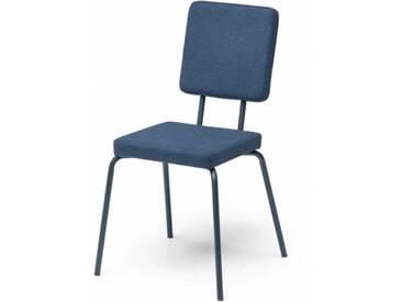 OPTION - chaise dossier et assise carrés - Couleurs - bleu marine