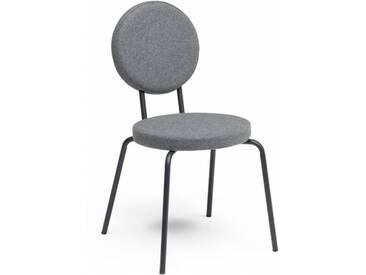 OPTION - chaise dossier et assise ronds - Couleurs - gris clair