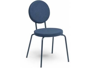OPTION - chaise dossier et assise ronds - Couleurs - bleu marine