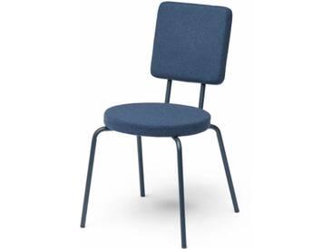 OPTION - chaise dossier carré et assise ronde - Couleurs - bleu marine