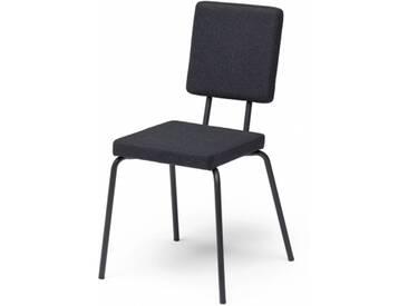 OPTION - chaise dossier et assise carrés - Couleurs - noir