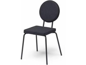 OPTION - chaise dossier rond et assise carrée - Couleurs - noir