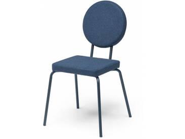 OPTION - chaise dossier rond et assise carrée - Couleurs - bleu marine