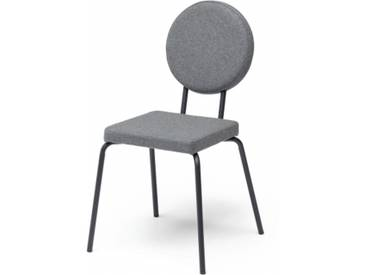 OPTION - chaise dossier rond et assise carrée - Couleurs - gris clair