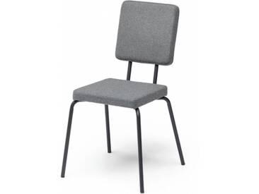 OPTION - chaise dossier et assise carrés - Couleurs - gris clair