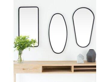 Miroir métal par lot de 3 formes