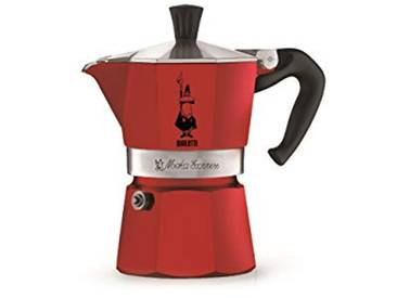 Bialetti 4941 Machine à Expresso pour Tasse, Aluminium, Rouge, 30 x 20 x 15 cm