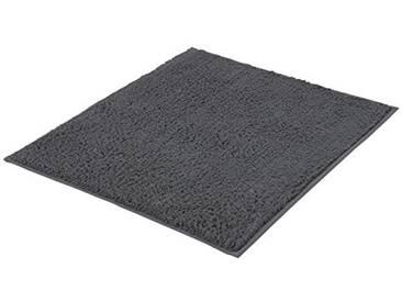 Kleine Wolke 4018905539 Kansas Tapis de Bain Coton Gris Ardoise 55 x 65 x 1,5 cm