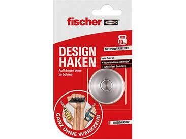 Fischer 545952 Crochet design 10 kg + 1 kit complet avec crochet design et surface adhésive double face Rouge/blanc