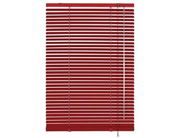 GARDINIA Store Vénitien en Aluminium, Fixation au Mur et au Plafond, Kit de Montage Inclus, Store Vénitien Aluminium, Rouge, 120 x 175 cm (LxH)