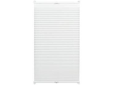 Gardinia Store Plissé à Clipser, Opaque, Kit de Montage Inclus, Store Plissé à 2 Rails EASYFIX, Blanc, 50 x 130 cm (BxH)