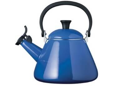 Le Creuset Bouilloire kone en acier émaillé à sifflet, bleu marseille