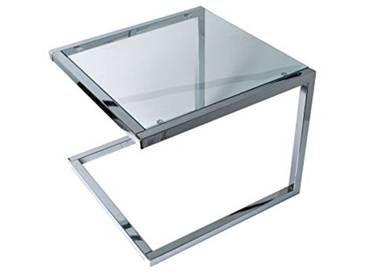 Leitmotiv U Shape Table dAppoint Verre, Chrome, Taille M