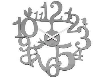 koziol horloge mural [pi:p], thermoplastique, gris, 3,2 x 45 x 44,5 cm