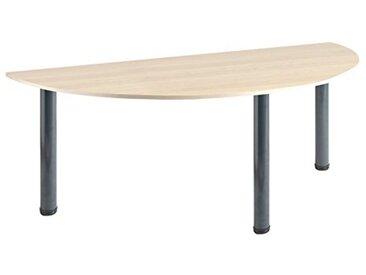 Eliza Tinsley Furniture T-Mod/ANNÉES 1600/1600mm GM Semi Circulaire érable Versa Table avec Cadre Gris Marteau