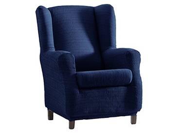Eysa Aquiles Élastique repose-téte Housse de Fauteuil, Polyester Coton, Bleu, 37x29x5 cm