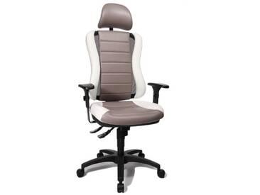 Topstar HE30PS033X Head Point RS SY Chaise de Bureau avec Têtière Gris/Blanc 47 x 50 x 150 cm