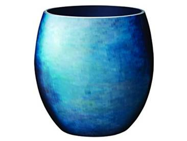 Stelton Stockholm Horizon Vase, Bleu, Medium